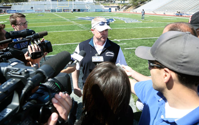 Formerly an assistant at Stanford and Texas A&M, Brian Polian was named Nevada's coach in January.