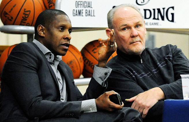 George Karl (right) and Masai Ujiri both earned accolades after the best season in Nuggets history.