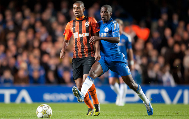 Fernandinho (left) played in the Champions League with Shakhtar Donetsk last season.