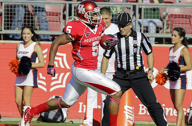 Charles Sims rushed for 851 yards and 11 touchdowns in 142 carries in 2012 for Houston.