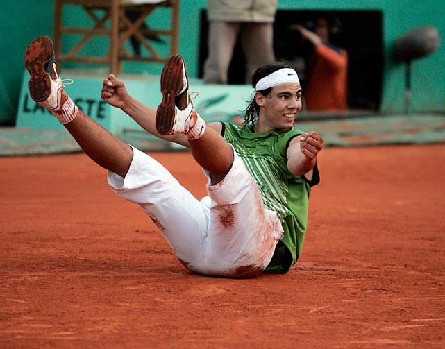 Nadal won his first major at Roland Garros in 2005, knocking off Roger Federer in the semis.