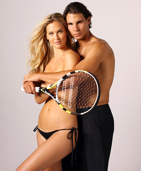 Yowza, Nadal with Bar Refaeli in the 2012 SI Swimsuit edition.