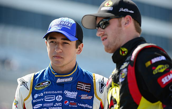 Chase Elliott and Jeb Burton are among the 13 drivers chosen as NASCAR's top prospects.