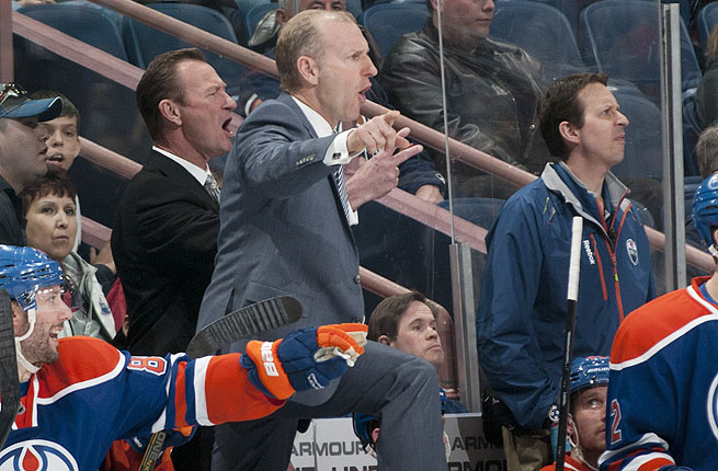 The Oilers were 19-22-7 in the lockout-shortened season, finishing in 12th place in the conference.