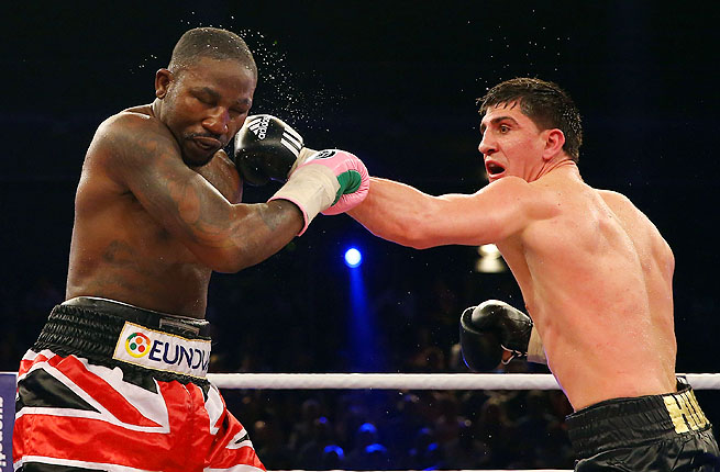 Huck, right, has made 11 successful defenses of the title he won from Victor Emilio Ramirez in 2009.