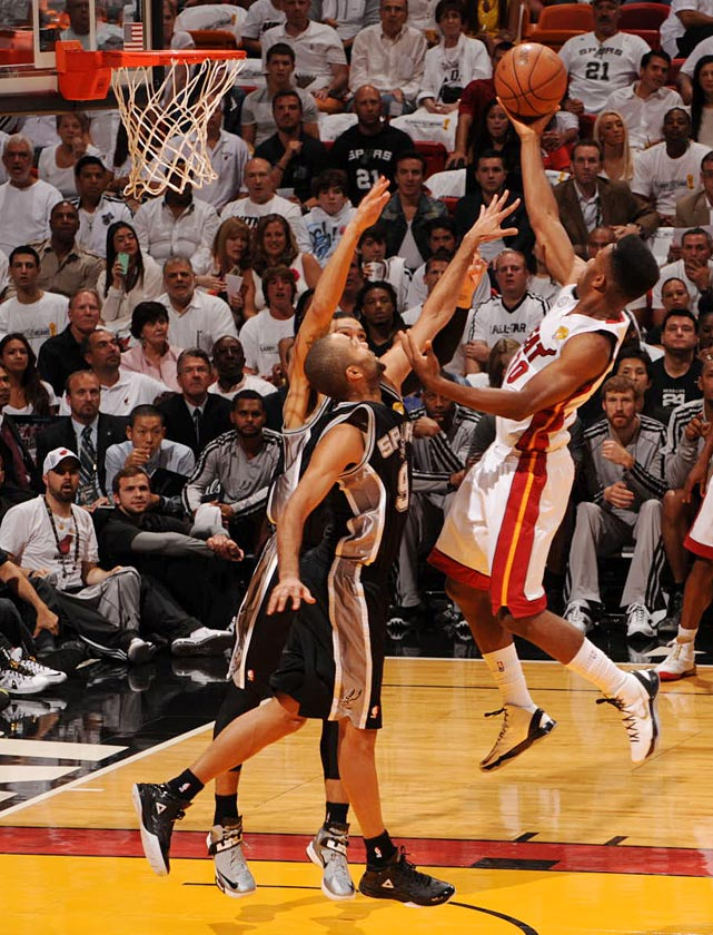 The Heat shot 49 percent from the field and scored 19 points off San Antonio turnovers.