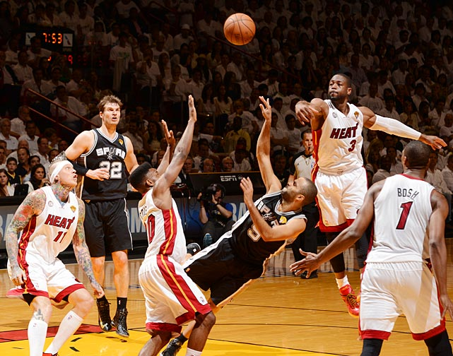 The Heat held Tony Parker and the Spurs to a mere five points in a second-half 35-5 run that broke the game open.
