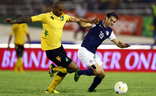 Due to a yellow-card suspension, Graham Zusi (right) will not be able to face Panama on Tuesday.