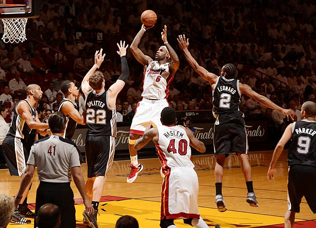 LeBron James put up 17 points against the Spurs in Game 2, but it was his seven assists that led both teams and helped the Heat to a dominant 103-84 victory.