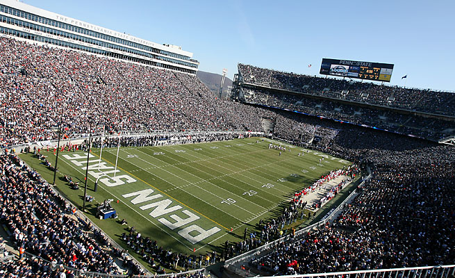 Penn State's stadium usually is not used between the final football game and the spring football game.