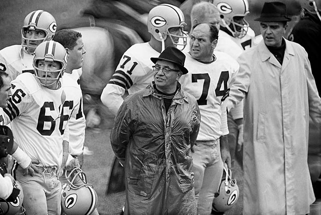Lombardi on the sidelines during a game vs. the Chicago Bears at Wrigley Field. The Bears defense would force seven Green Bay turnovers en route to a 26-7 drubbing of Lombardi's Packers.