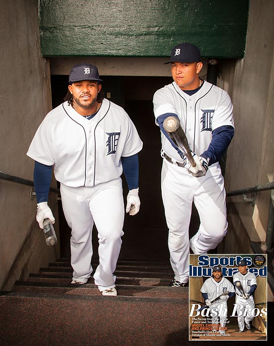 Ruth and Gehrig. Mays and McCovey. Ortiz and Ramirez. To the list of great hitting duos in baseball history we can now add one more: Prince Fielder and Miguel Cabrera of the Tigers. Both were established stars long before coming to Detroit but since joining forces prior to last season, Fielder and Cabrera have become baseball's best 1-2 punch, which makes it only fitting that the sluggers appear together on the cover of this week's Sports Illustrated. Here are some outtakes from the photo shoot.
