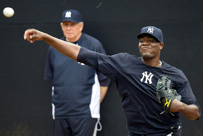 Michael Pineda will need about five or six rehab starts before he's ready to make his Yankees' debut.