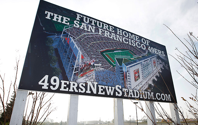 The 49ers' new stadium is expected to be open for the start of the 2014 season.