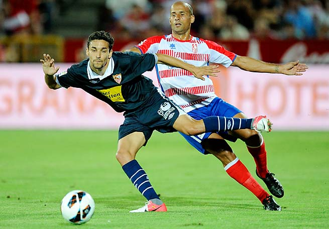 Jesus Navas (left) had been with Sevilla since 2003.