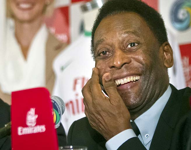 Pele won the World Cup with Brazil in 1958, 1962 and 1970.