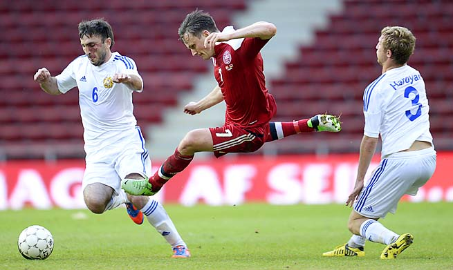 Denmark is in fifth place in its six-team group after Tuesday's loss.