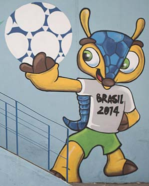 Fuleco, an endangered armadillo, is the World Cup mascot.