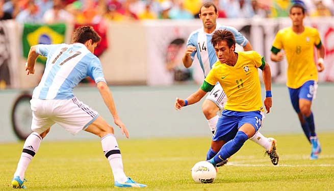 Neymar, 21, has 20 goals in 33 appearances for the Brazilian national team.