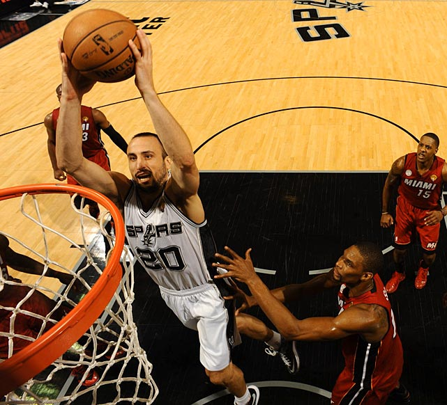 Manu Ginobili was just 3-7 shooting, but all three of his made field goal attempts were at the rim.