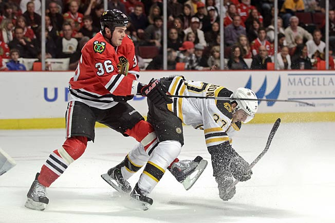 Long time, no see: The Blackhawks and Bruins have not faced each other on the ice since October 2011.