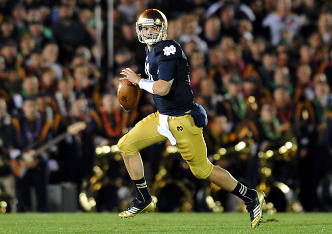 Notre Dame coach Brian Kelly said Tommy Rees won't have to fight to win the Irish's starting QB job.
