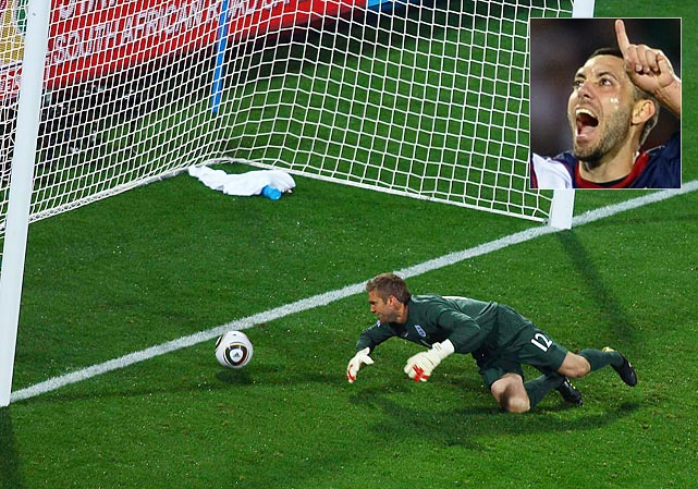 A now-infamous gaffe by English goalkeeper Robert Green allowed a left-footed shot by Dempsey to trickle past him for the equalizer.