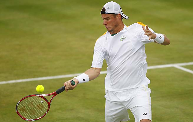 Lleyton Hewitt was beaten in the first round of Wimbledon last year for the first time since 2000.