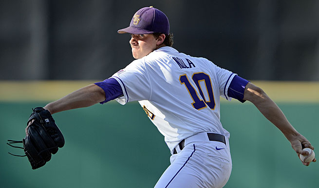 Aaron Nola has gone undefeated this year for the Tigers, who are eyeing their seventh CWS title.