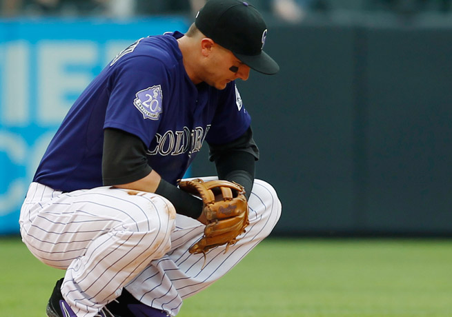 Troy Tulowitzki, who left Wednesday's game in the eighth inning, was one of three Rockies injured.