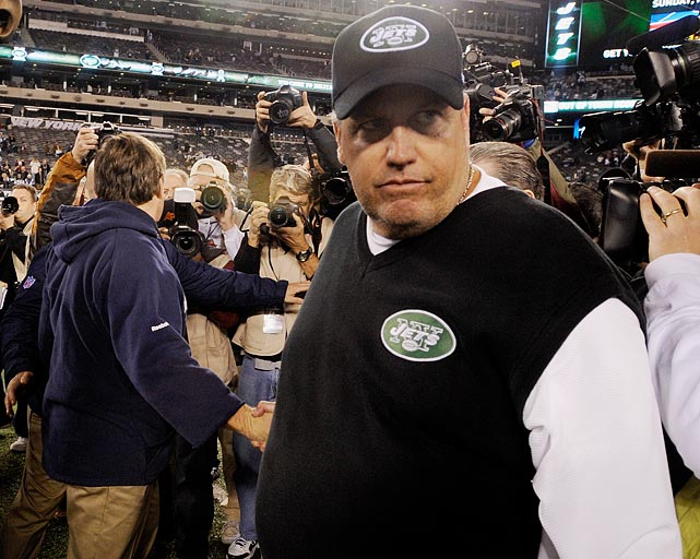 """<bold>""""My first thought was I looked and I saw who was second and [thought], 'Hey, I finally beat Belichick at something. I got him. I knew it would take time, but I finally got him.'""""</bold> <italics>-- Nov. 2012, after being voted the Most Overrated NFL Head Coach in a Sporting News poll</italics>"""
