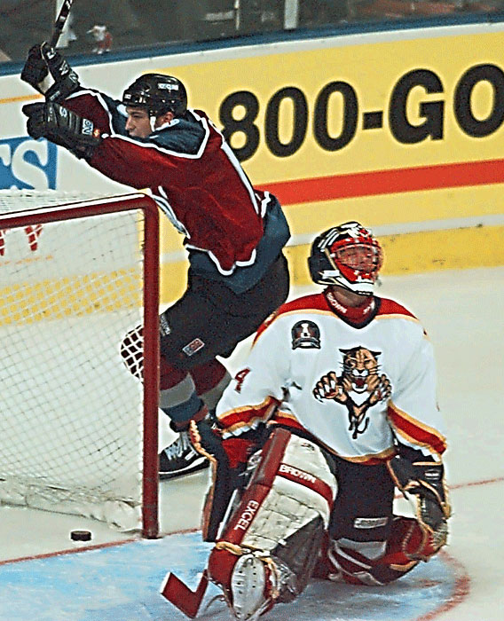 After losing the first three games, the Panthers fought to prevent goals but couldn't score any of their own. Colorado's Uwe Krupp scored on the Panthers at 4:31 in the third overtime, ending the series in an Avalanche sweep.