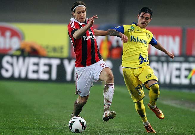Massimo Ambrosini (left), 36, made more than 300 appearances with AC Milan.