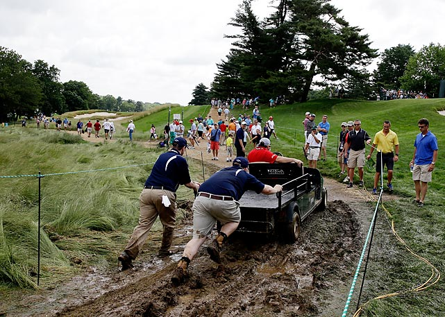 Welcome to another slog through <italics>Did You See That?</italics>, the gallery that mucks about in the worlds of sports and pop culture. In this week's meteorological news, a touch of rain fell on the big tournament at Merion Golf Club in Ardmore, Pa.