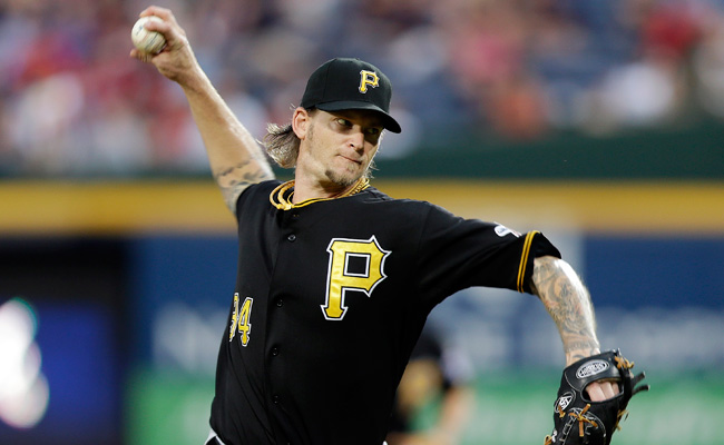 A.J. Burnett injured his calf during a workout on Wednesday.