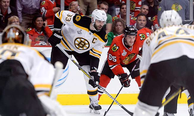 Once considered too small to play in the NHL, Chicago's Andrew Shaw is happy to take on the big boys.