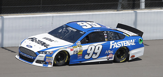 Carl Edwards topped the qualifying on a fast track, finishing his final lap at over 202 MPH.