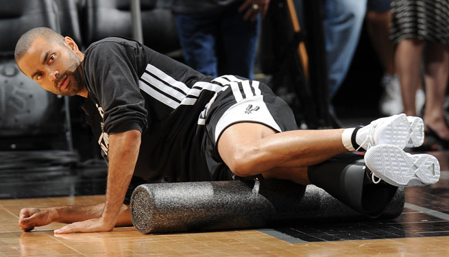 Tony Parker strained his hamstring during the Spurs' Game 3 blowout of the Heat.
