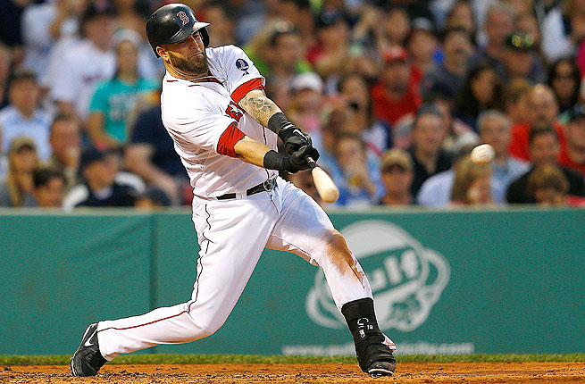Mike Napoli was pulled in the third inning of Thursday night's game against the Baltimore Orioles.