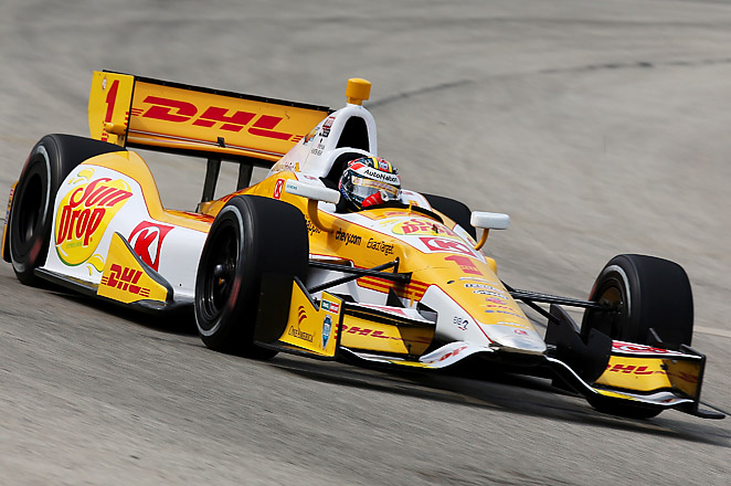 Hunter-Reay is the first driver to win back-to-back races at the Mile since Tony Kanaan in '06 and '07.