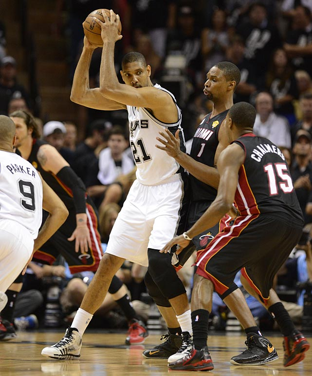 The Spurs were able to run their offense effectively through Duncan early and that helped the rest of the team.