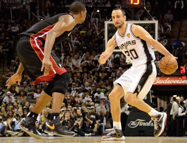 Manu Ginobili's 24 points in Game 5, including eight in the first quarter, were a season-best.