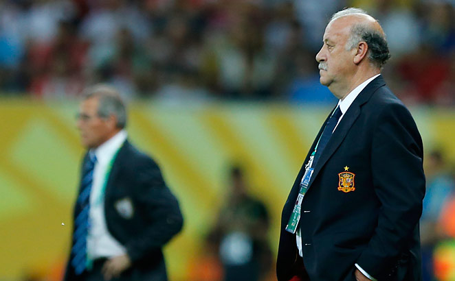 Spain coach Del Bosque saw his side dominate in every facet of the game, but score just two goals.