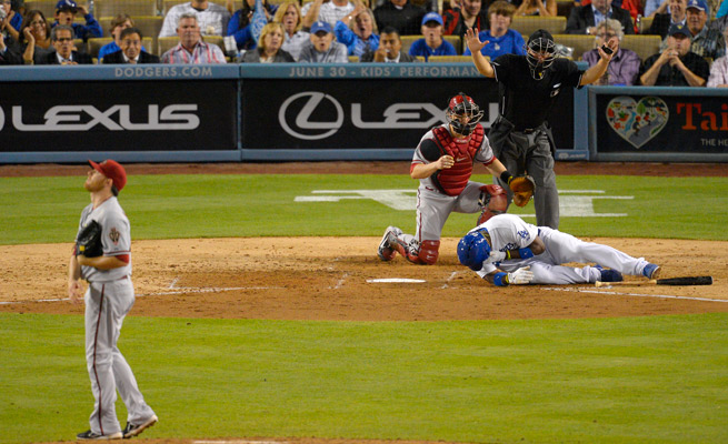 Ian Kennedy was suspended 10 games for plunking Yasiel Puig and Zack Greinke with inside pitches.