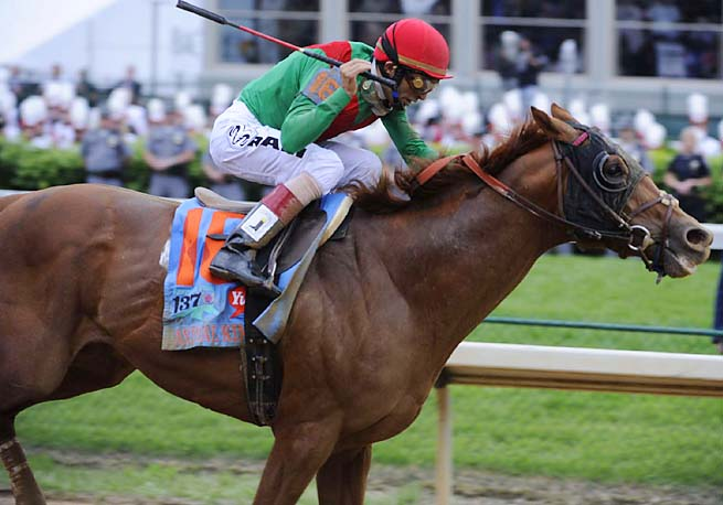 John Velazquez rode Animal Kingdom to victory at the 2011 Kentucky Derby.