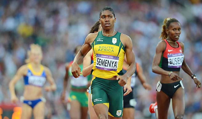 Caster Semenya won a silver medal in the 800 meters at the London Olympic Games.