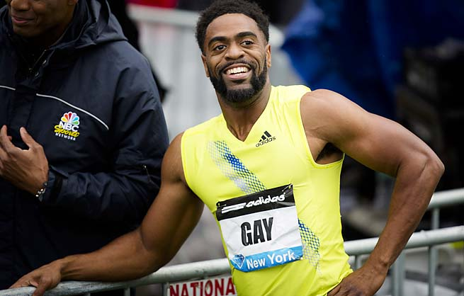 Tyson Gay finished fourth in the 100 meters at the London Olympics.