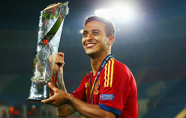 Thiago Alcantara plays his club soccer for Spanish superpower Barcelona.