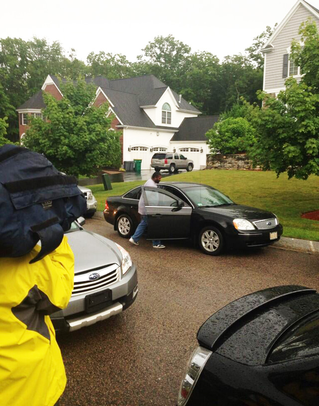 One of the two men who left Hernandez's home after police arrived. Neither man left in handcuffs.