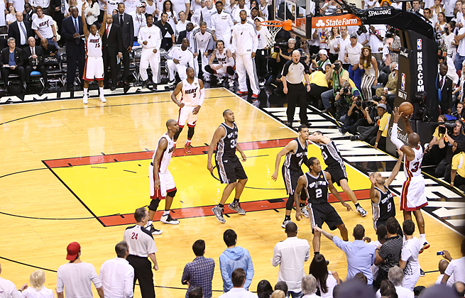 Ray Allen lived up to his reputation as a sharpshooter with a three-pointer that sent Game 6 to OT.